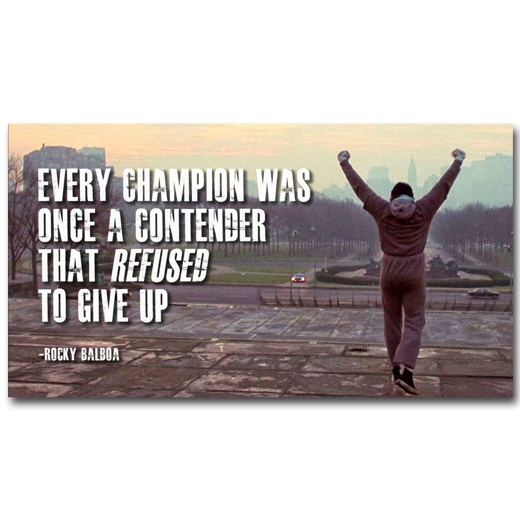 135957 Rocky Balboa Quotes Wall Print Poster Plakat