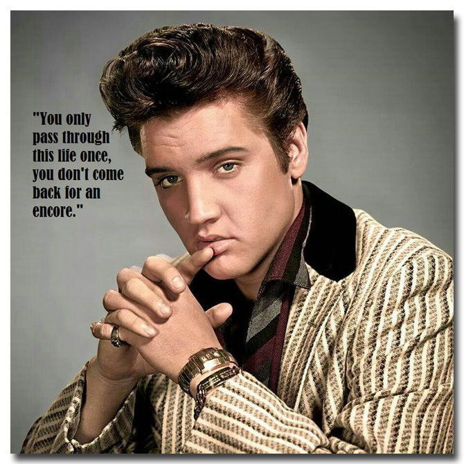 136112 Elvis Presley Quotes Rock Roll Music Singer Framed Canvas