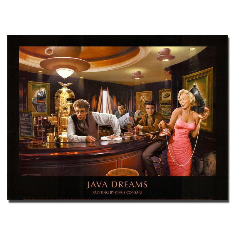 136827 Marilyn Monroe Elvis James Dean Bog Framed Canvas Print Uk Ebay