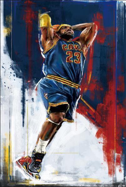 140966-LeBron-James-Dunks-Basketball-Wall-Print-Poster-UK
