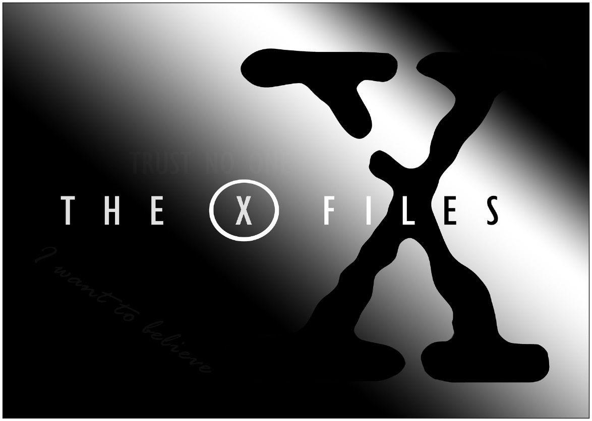 147240 The X Files Logo Wand Poster Drucken CA