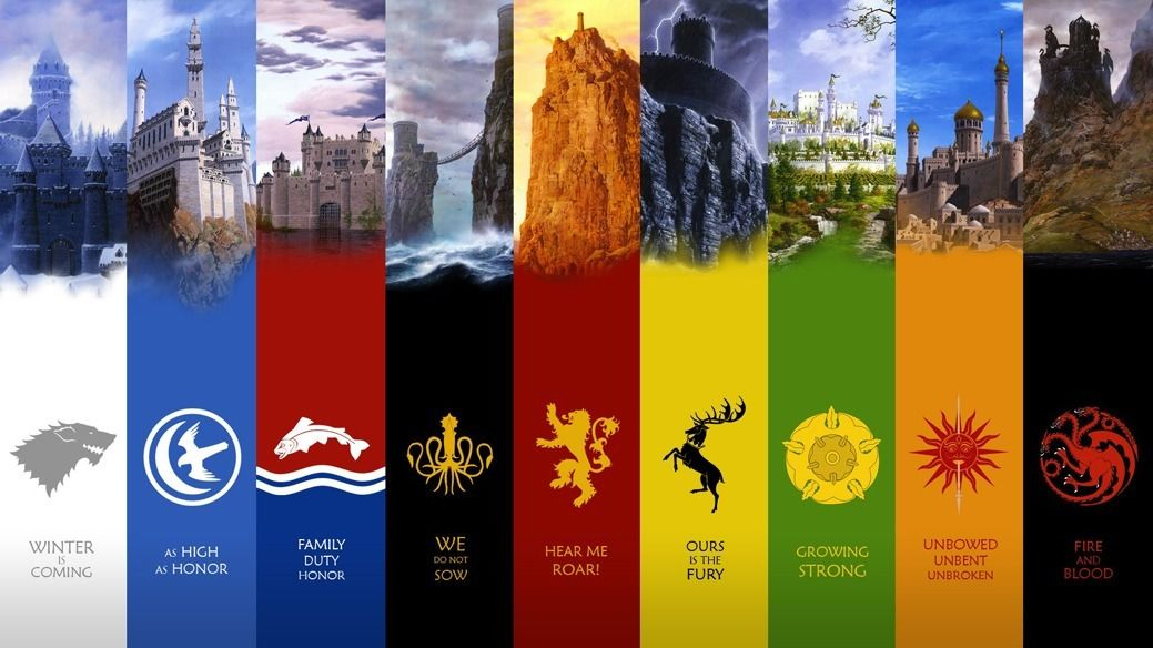 152816 Game Of Thrones Seven Kingdoms Map Art Wall Print Poster