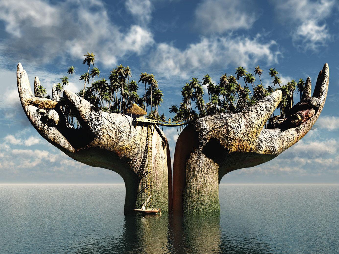 157274-Ocean-Island-Landscape-Nature-Wall-Print-Poster-AU