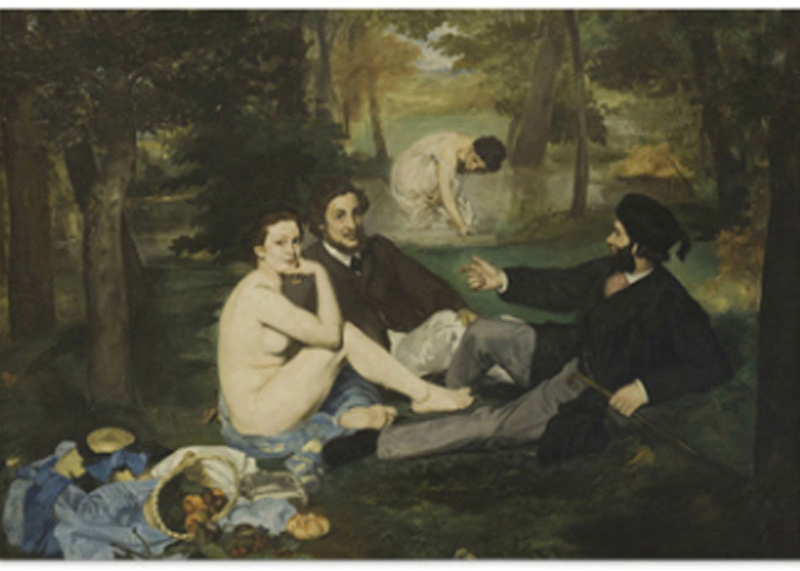 169887 Luncheon on The Grass Edouard Manet Decor WALL PRINT POSTER CA