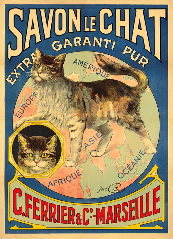 170664-Soap-Savon-Chat-Cat-Africa-America-Europe-World-WALL-PRINT-POSTER-FR