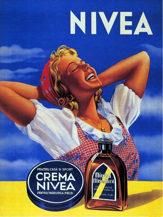 171117 Cosmetics Blond Girl Creme Crema Skin Nivea Decor WALL PRINT POSTER DE