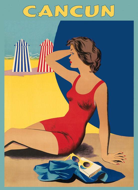 171561-Wonderful-Girl-Cancun-Beach-Mexico-Tourism-Decor-WALL-PRINT-POSTER-AU