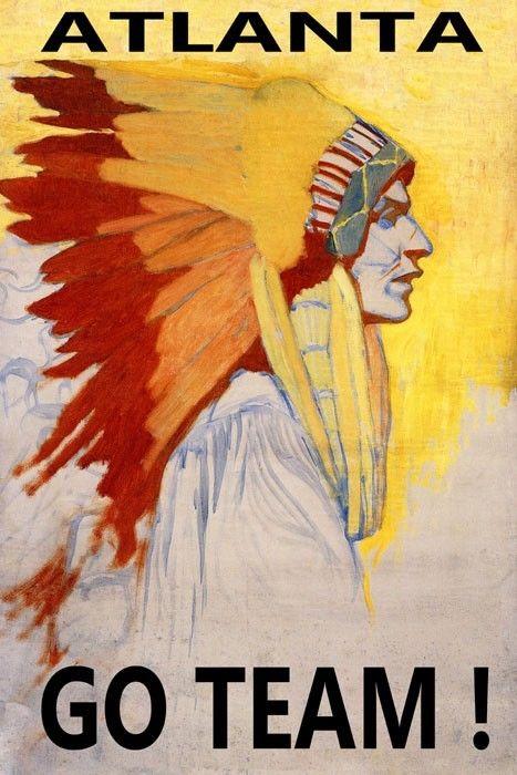 171964 Indian Brave Atlanta Go Team   American Sport Decor Wand Drucken POSTER CA