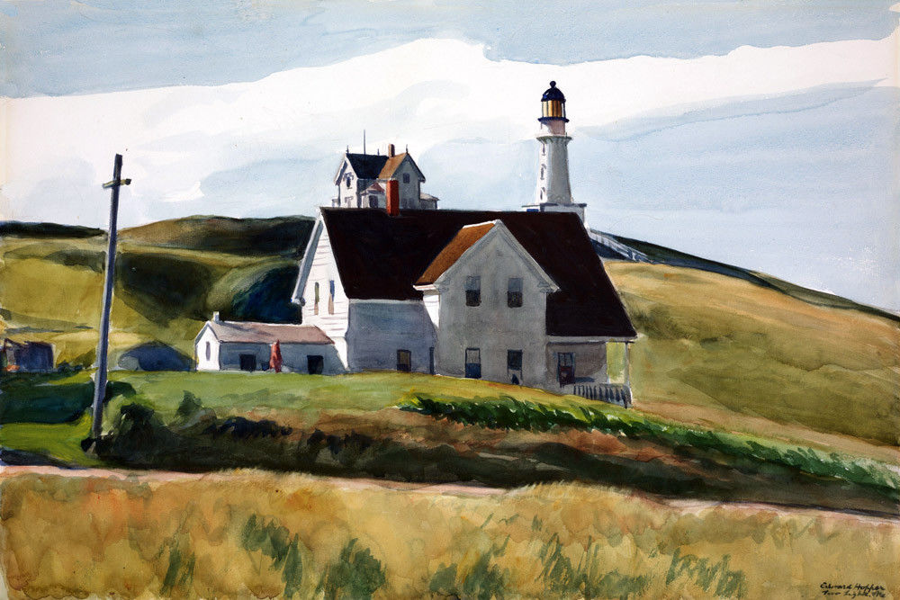 172500 Hill and Houses Cape Elizabeth Maine Hopper Decor WALL PRINT POSTER CA