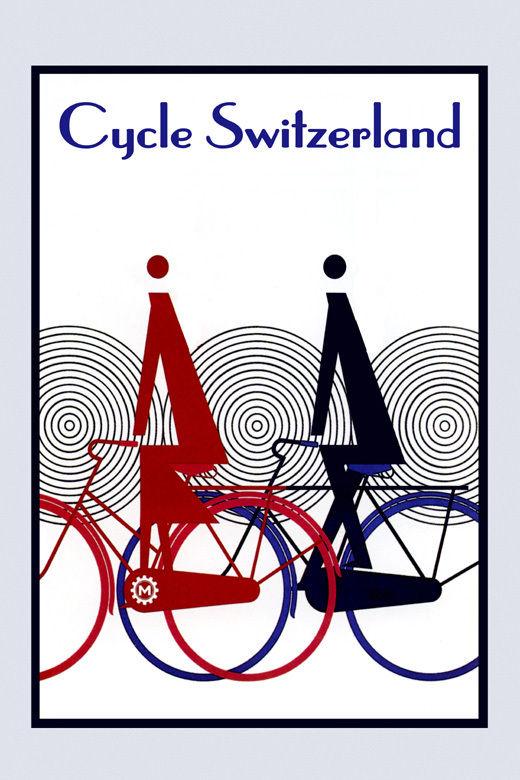 172646 Riding Bike Bicycle Cycle Switzerland Sport Decor WALL PRINT POSTER US