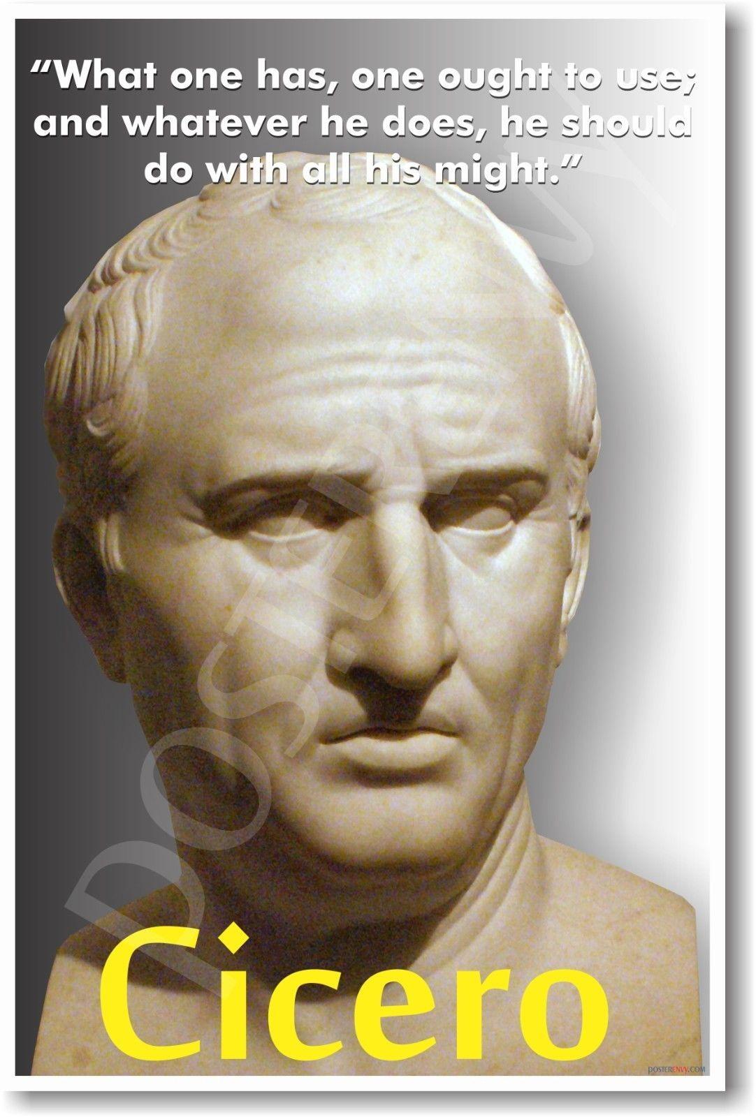 173284 Cicero Roman Latin History Decor WALL PRINT POSTER US