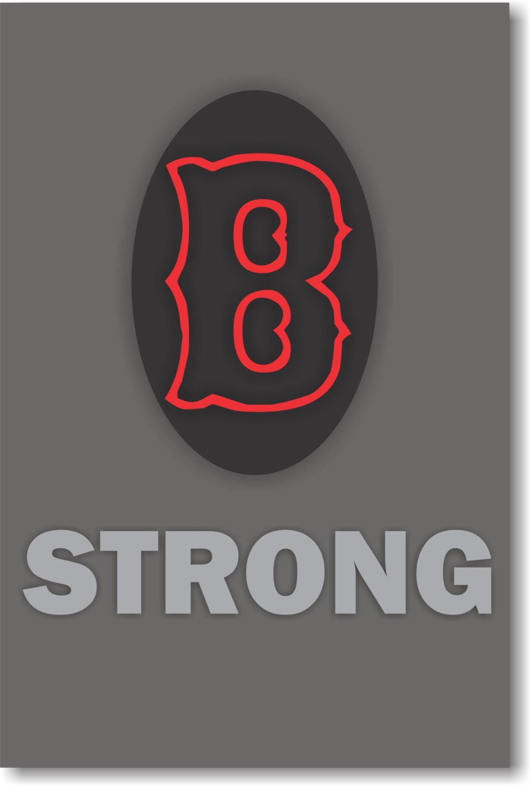 173502  B  Strong Patriotic BOSTON MASSACHUSETTS USA Decor WALL PRINT POSTER US