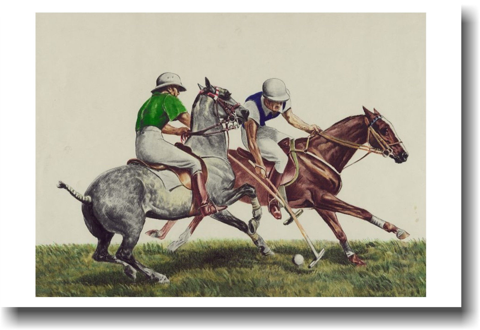 173762 Polo Challenge Horse Sports Decor WALL PRINT POSTER CA