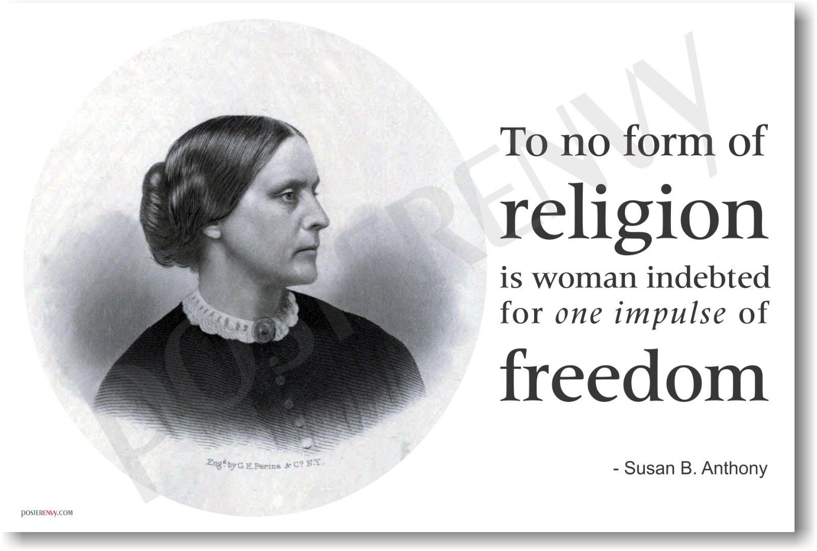 174078 Susan B Anthony Famous Person damen Suffrage Decor WALL PRINT POSTER CA