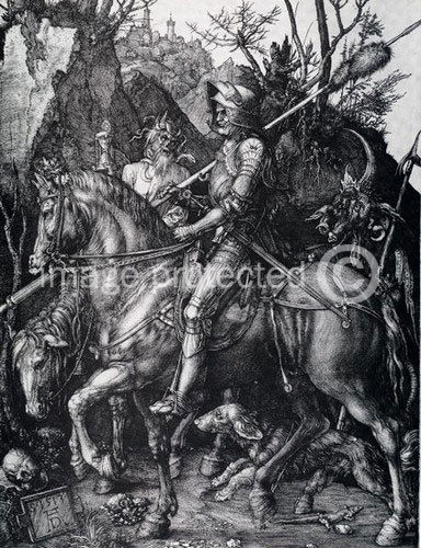 174471 Albrecht Durer Knight Death And The Devil Decor WALL PRINT POSTER CA