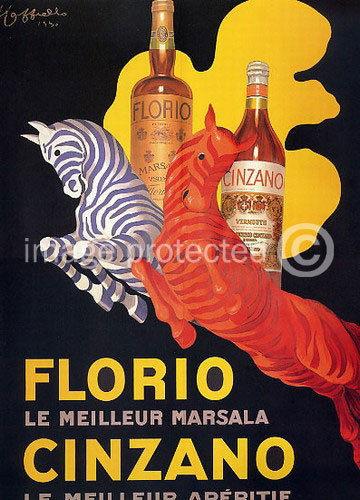 175287 Florio Cinzano Vintage Cappiello Art Decor WALL PRINT POSTER US