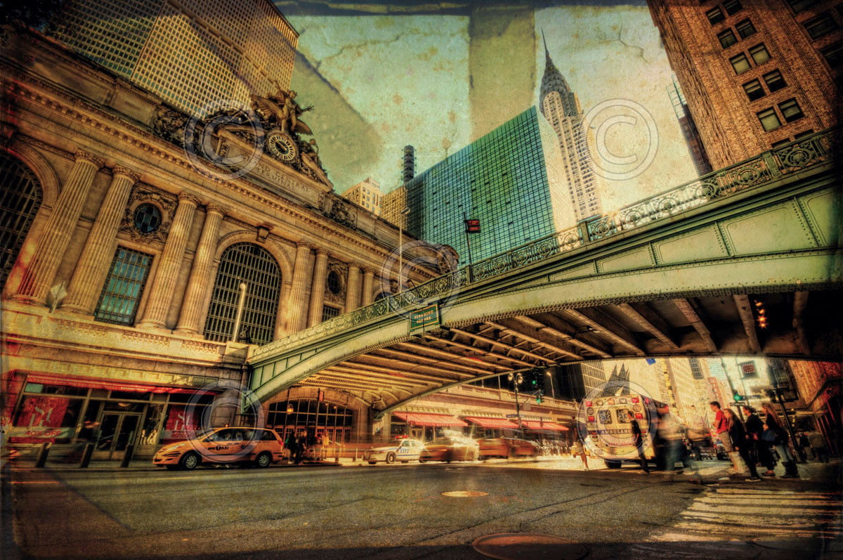 176711 NEW YORK CITY Chrysler Over Grand Central by Eri WALL PRINT POSTER AU