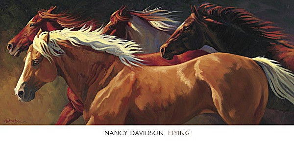 176875 HORSE Flying by Nancy Davidson Western Cowboy Decor WALL PRINT POSTER AU