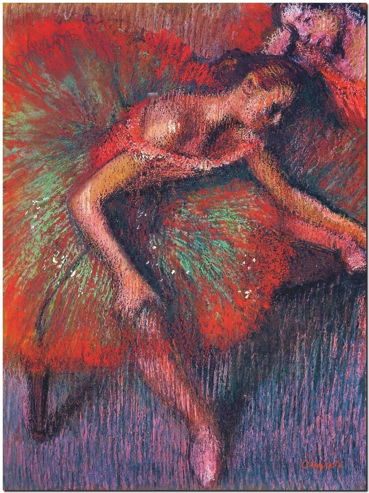 178706 BALLET DANCER BY EDGAR DEGAS DECOR WALL PRINT POSTER CA
