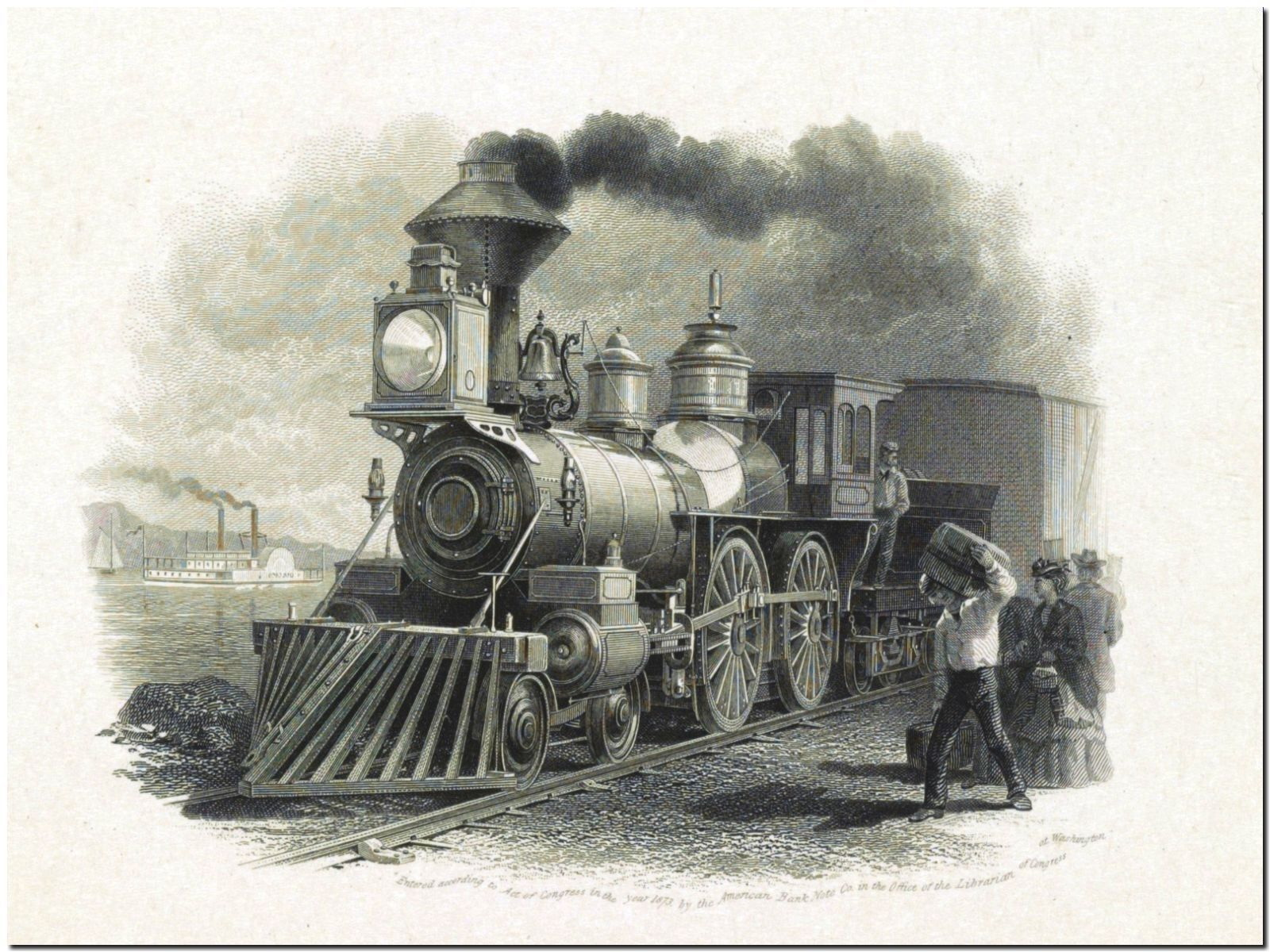 178909 VINTAGE STEAM TRAIN DECOR WALL PRINT POSTER AU