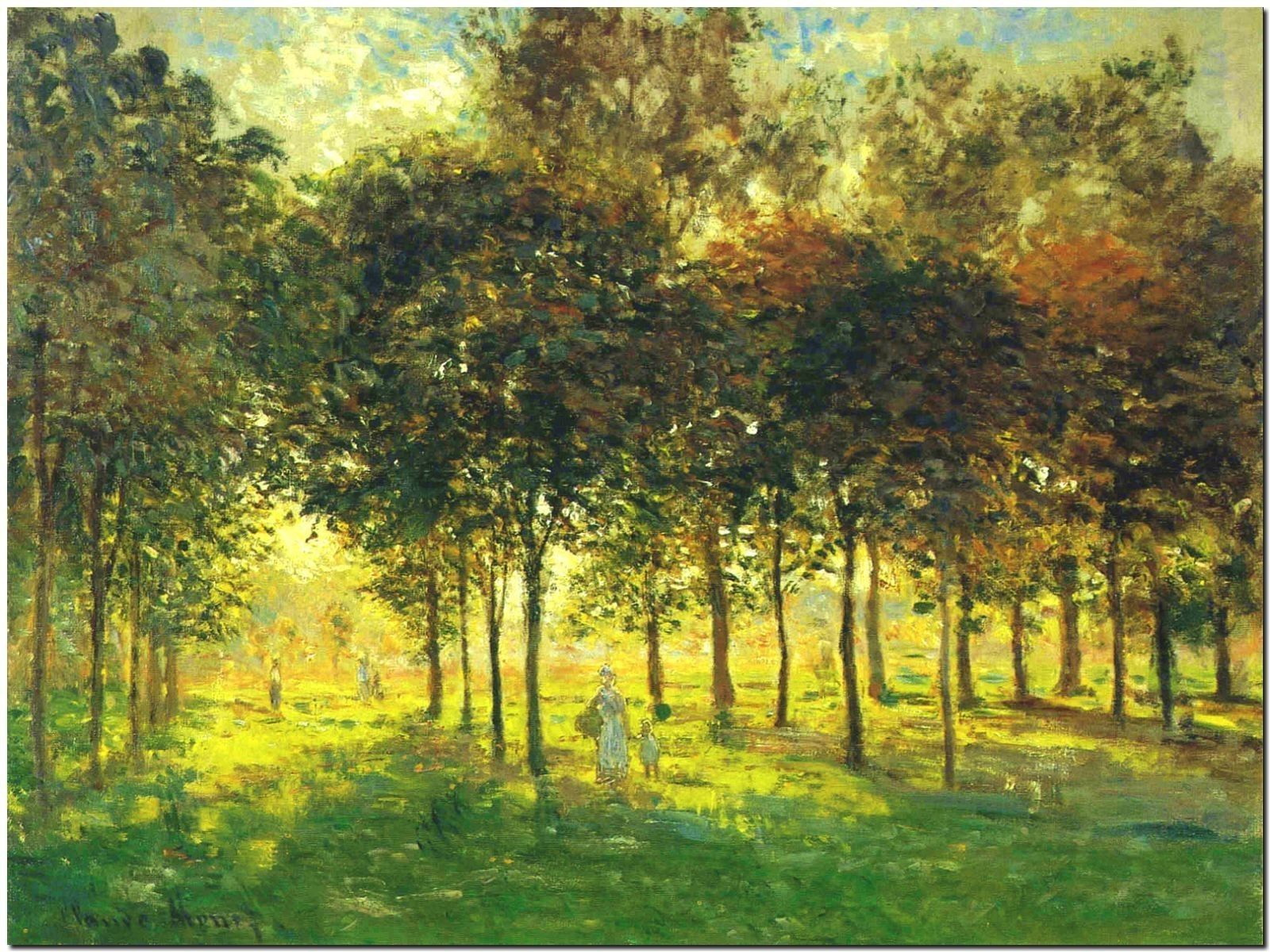 179119 CLAUDE CLAUDE CLAUDE MONET THE PROMENADE AT argentoEUIL DECOR WALL PRINT POSTER FR f6c747