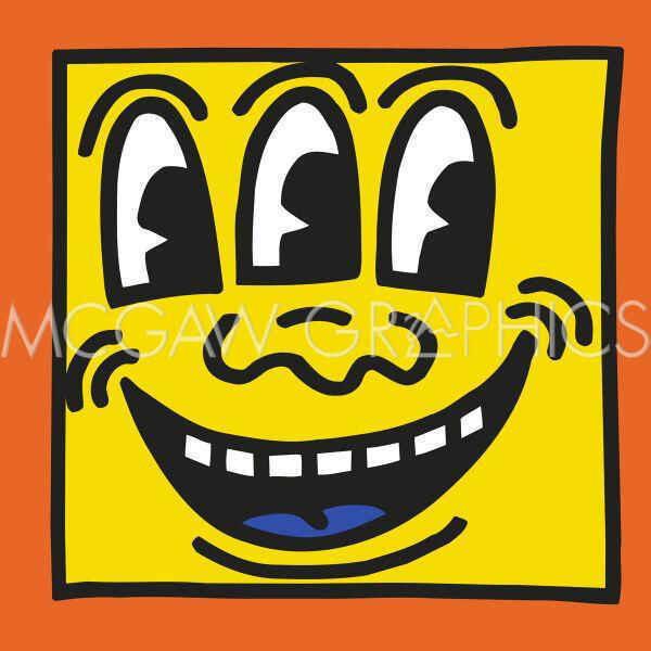 179836 Keith Haring KH Contemporary Pop Face Three Eyes WALL PRINT POSTER CA