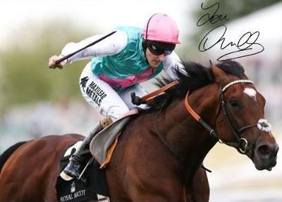184287 Frankel Tom Queally Mounted Horse Racing Queen WALL PRINT POSTER DE