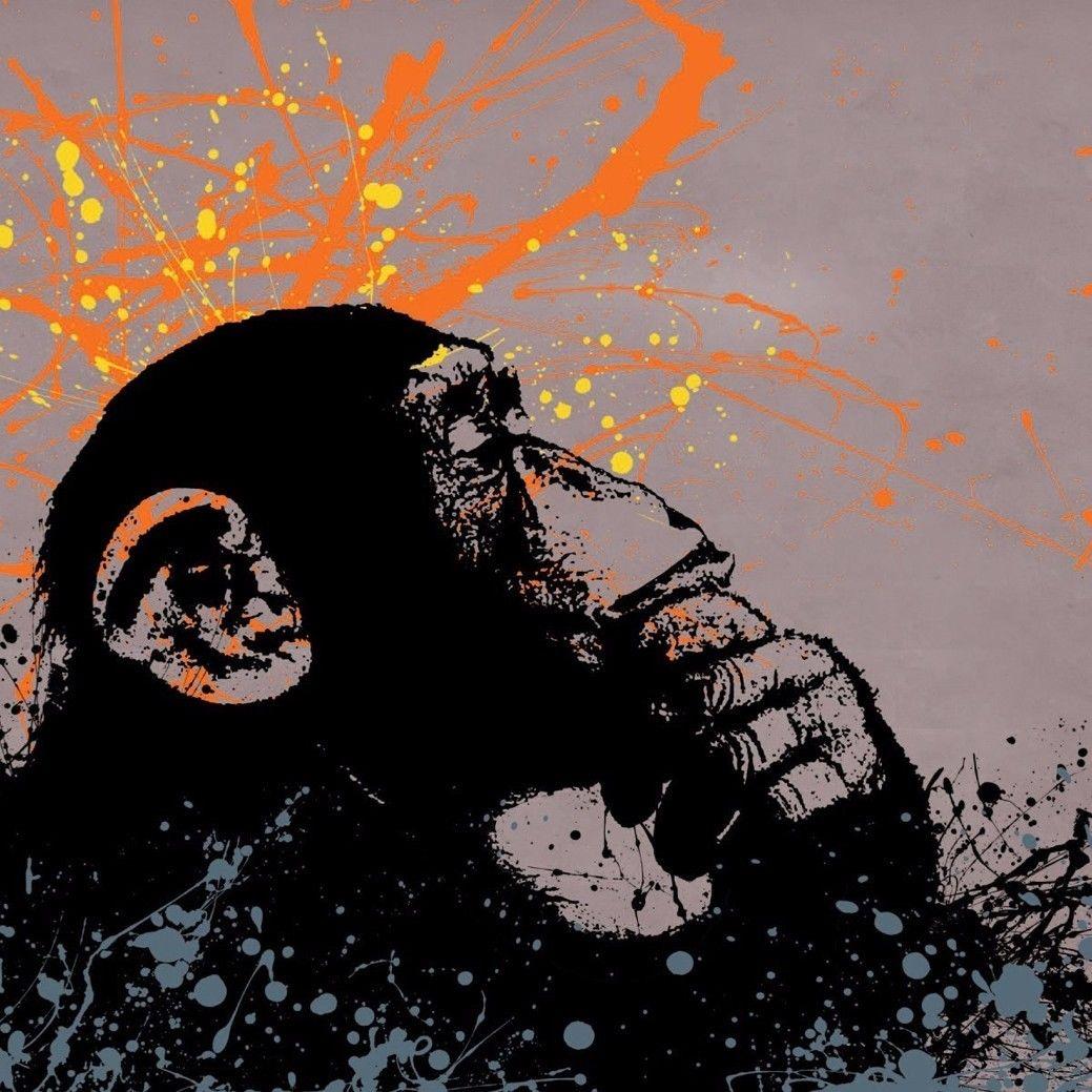 193482 Banksy Monkey ative Graffiti Urban Wall Print Poster Plakat