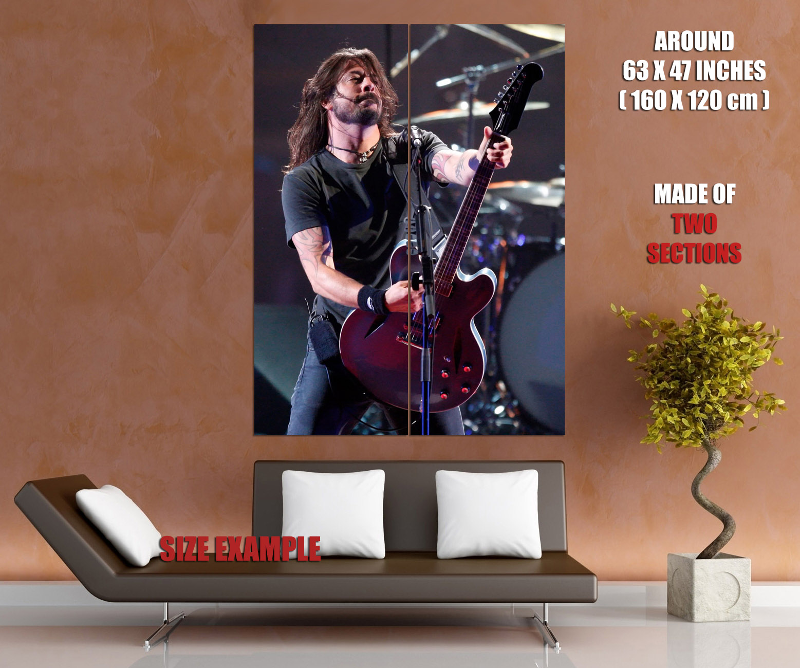 C5062-Dave-Grohl-Rock-Music-Wall-Print-POSTER-UK thumbnail 6
