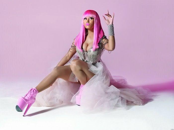 Nicki Minaj Rapper Cute Pink Wig Dall Ruche High Heels Print Poster