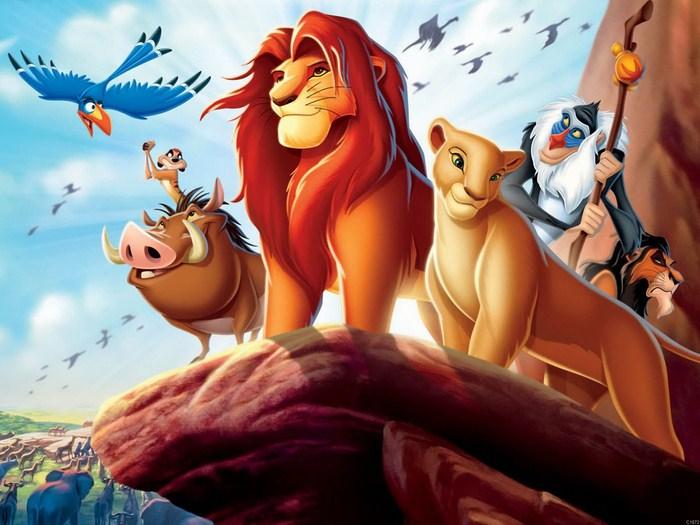 C1872 The Lion King Cartoon Simba Nala Timon and Pumbaa Wall Print POSTER AU