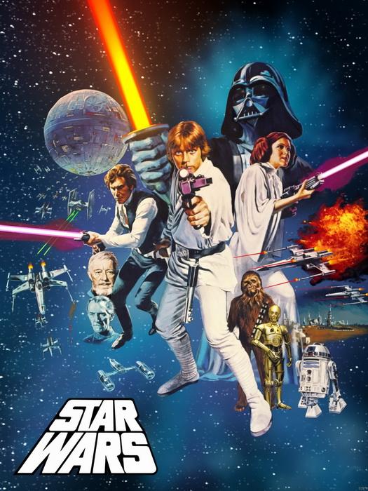 Star Wars Movie FRAMED CANVAS PRINT PRINT PRINT DE 59b18a