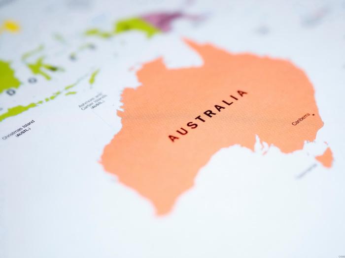 Australia World Map Wall Print Poster Au Ebay