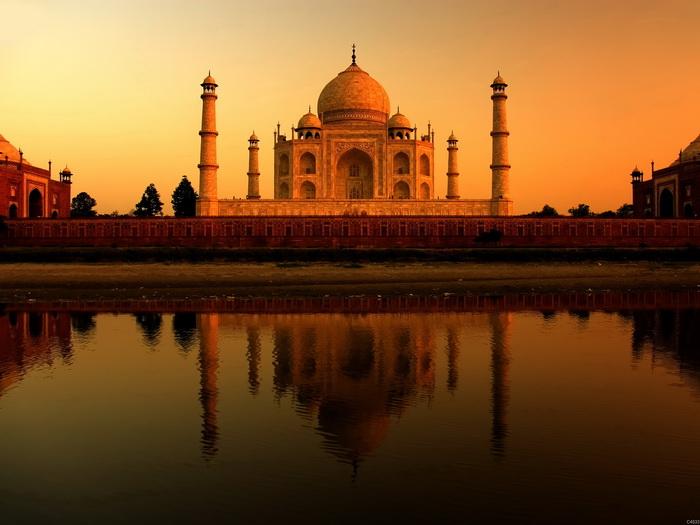 C4533 India Taj Mahal bianca marble marble marble mausoleum FRAMED CANVAS PRINT DE 4fb61c