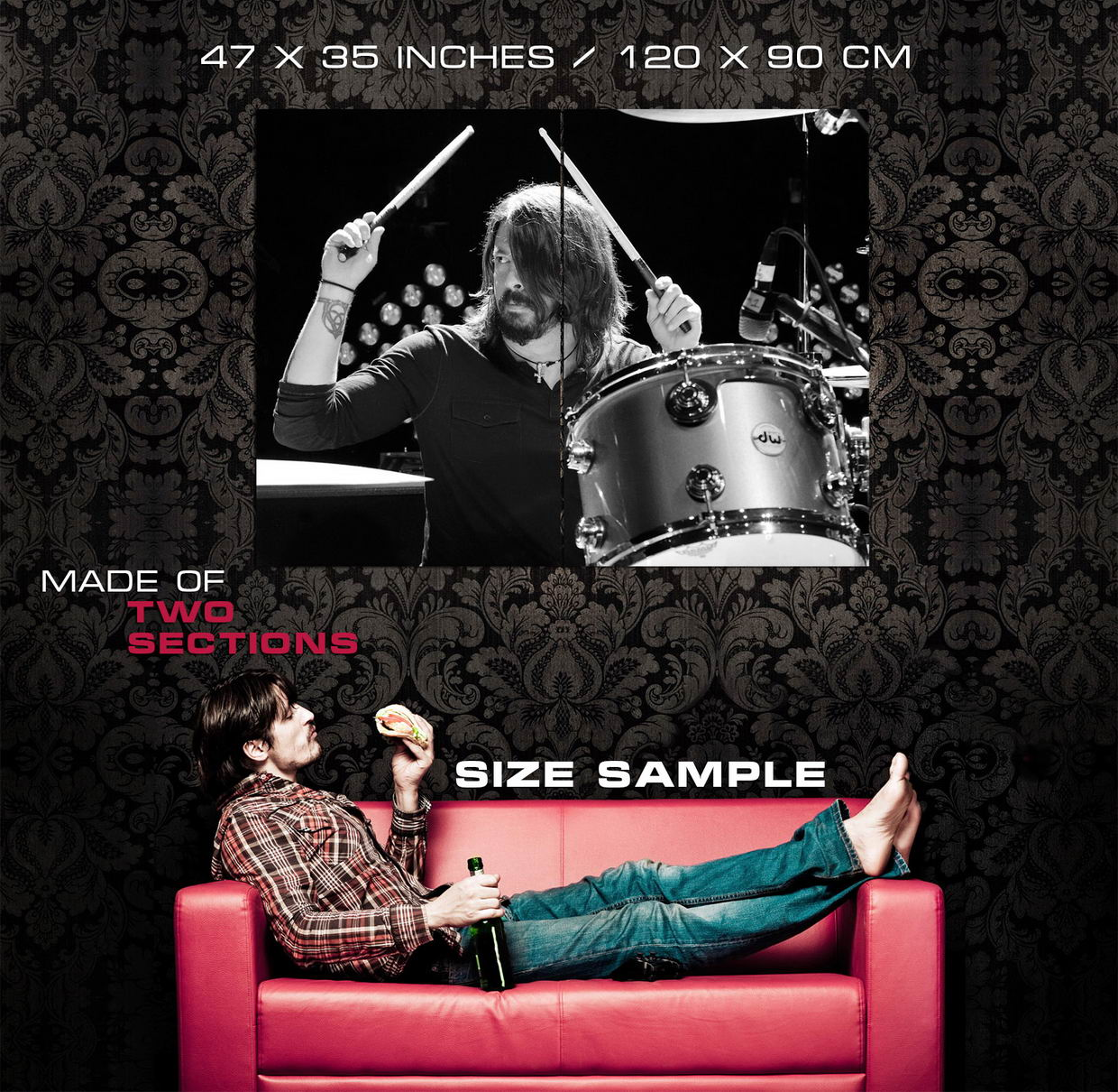 Dave-Grohl-Foo-Fighters-Drums-Music-Wall-Print-POSTER-UK thumbnail 5