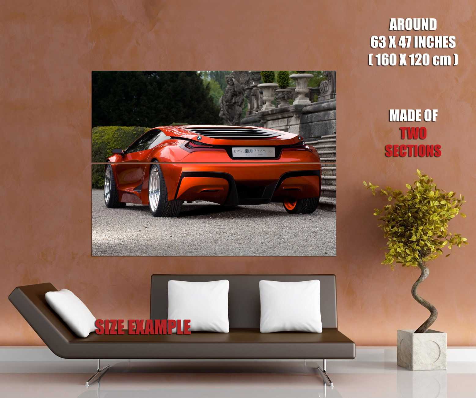 BMW 5 Series bmw m1 rear BMW M1 Rear Red Future Concept Car Gigantic Print POSTER | eBay