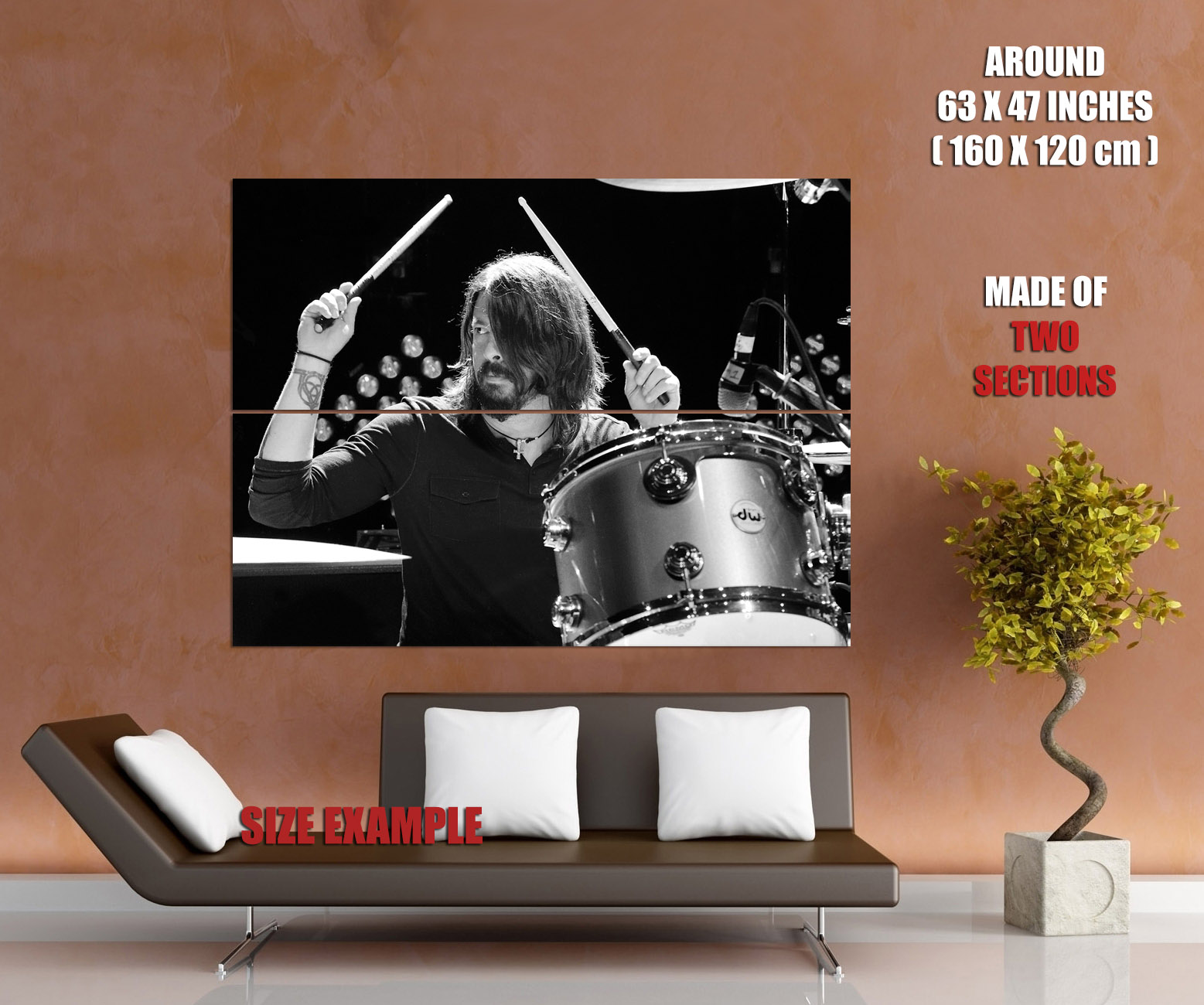 Dave-Grohl-Foo-Fighters-Drums-Music-Wall-Print-POSTER-UK thumbnail 6