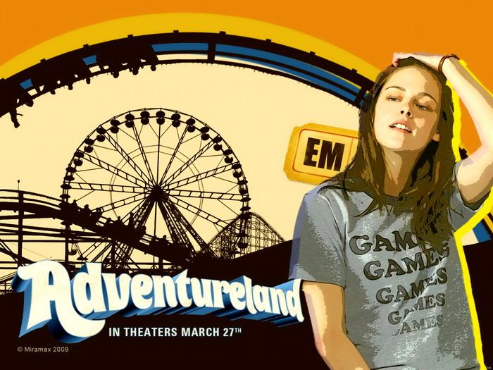 Adventureland Em Stewart Movie Art FRAMED CANVAS CANVAS CANVAS PRINT DE 293024