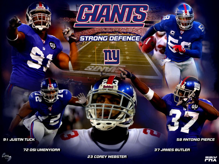 New York Giants Strong Defence NFL Wall Print POSTER AU