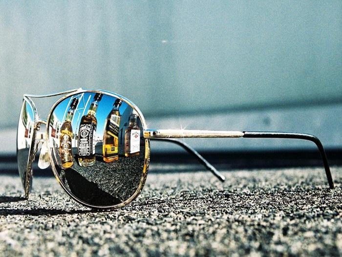 Sunglasses Reflection Whiskey Macro Art Wall Print POSTER AU