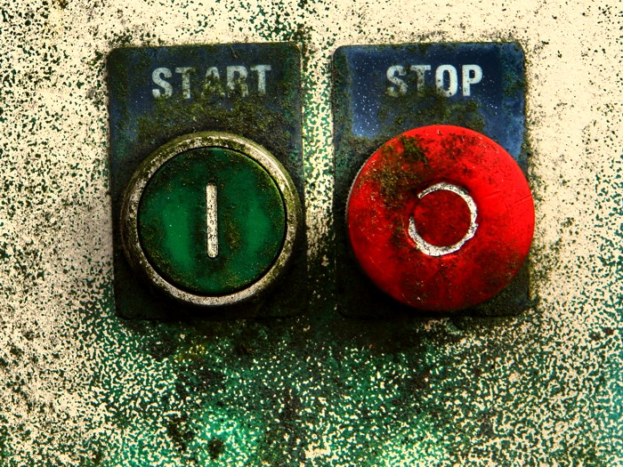 START STOP Old Buttons Cool Art Wall Print POSTER US