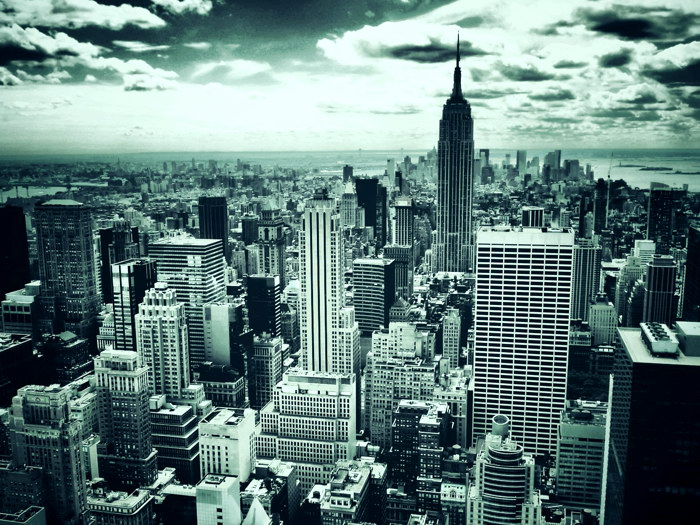 New York City Skyscrapers Manhattan Wall Print POSTER AU