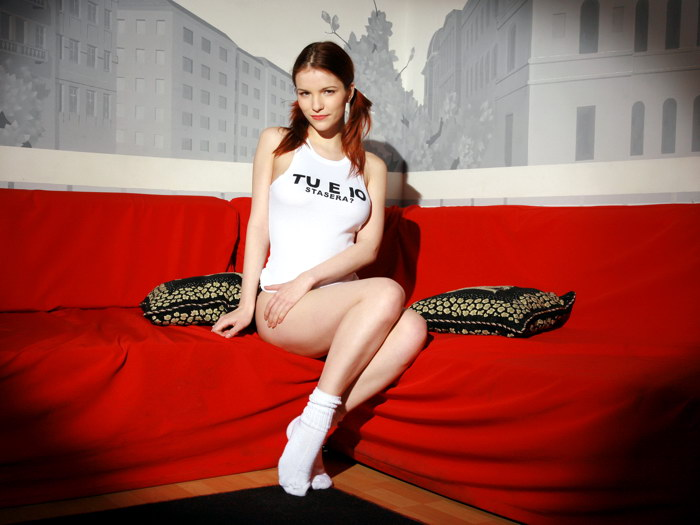 Image Is Loading D4193 Sexy Legs Hot Girl Socks Redhead Gigantic