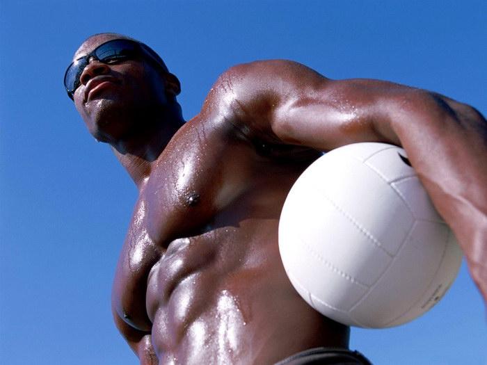 Hot Man Beach Volleyball Volleyball Volleyball Sport FRAMED CANVAS PRINT DE 87af65