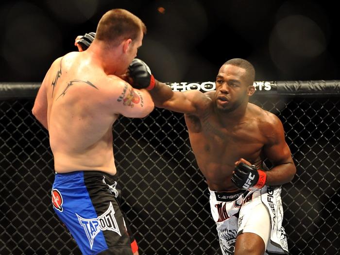 Jon Jones Jones Jones Bones Punch MMA Mixed Martial Arts FRAMED CANVAS DE 624e94