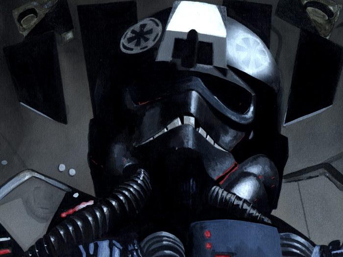 TIE Fighter Pilot Star Wars Sci-Fi Painting Art FRAMED CANVAS PRINT DE