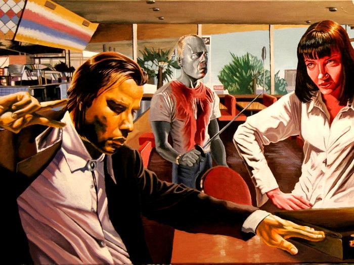 D7724 Pulp Fiction Art John Travolta Bruce Willis