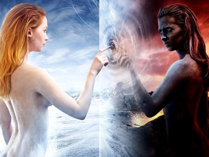 Angel Demon Girls Fantasy Nude Art Wall Print POSTER AU