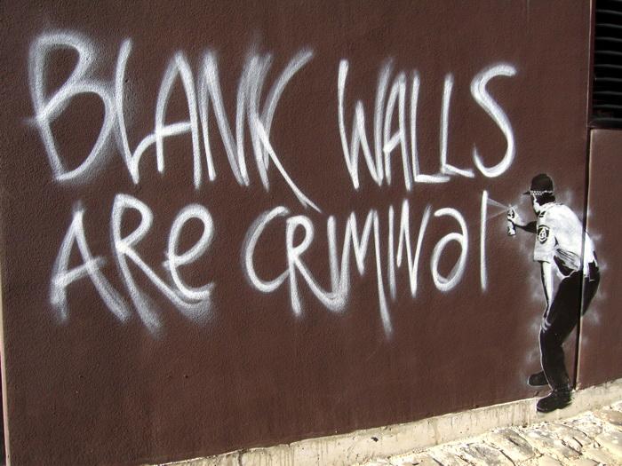 D8266 Blank Walls Are Criminal Banksy Graffiti Street