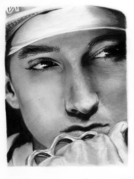 Eminem Drawing Portrait Rap Hip-Hop Music Wall Print POSTER CA